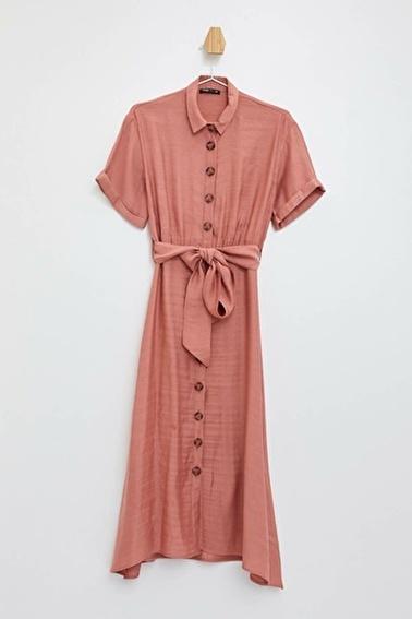 DeFacto Uzun Gömlek Elbise Bordo